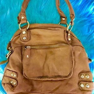 Pelle Linea Dylan Leather Zip Tote Bag